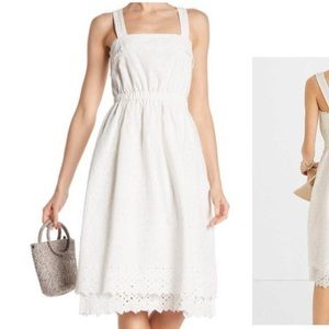 Madewell white eyelet dress midi 4